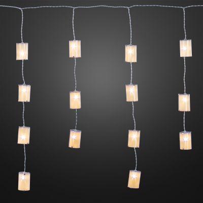 Hellum LED-Eislichtvorhang mit Dekorteilen 100 BS weiß//transparent